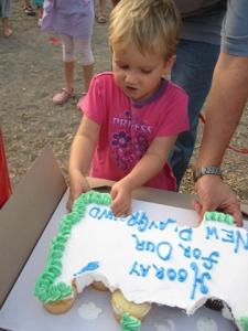 Carleigh Atcheson enjoying cake!